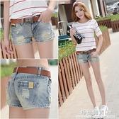 低腰牛仔短褲女潮ins2021夏季新款韓版顯瘦超短褲破洞熱褲子脫了 極簡雜貨