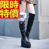 長靴-創意經典狐狸頭厚底內增高時尚過膝女馬靴2款64e25【巴黎精品】