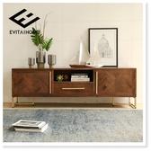 電視櫃後現代簡約美式客廳後現代輕奢家具電視機櫃茶幾電視櫃組合 MKS宜品