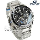 EDIFICE EFS-S510D-1A 計時碼錶系列 時尚太陽能動力大錶面男錶 不銹鋼 EFS-S510D-1AVUDF CASIO卡西歐