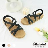 涼鞋 交叉線條平底涼鞋 MA女鞋 T7675