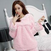 秋冬季珊瑚絨睡衣少女加厚加絨韓版甜美可愛法蘭絨女士家居服套裝『潮流世家』