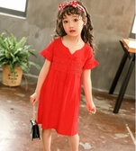 女童禮服連身裙夏裝2019新款中小兒童短袖洋裝公主裙寶寶裙子5HT744