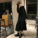 洋裝 秋冬2019新款韓裙子版氣質Polo襯衫裙寬鬆長袖A字裙洋氣洋裝女