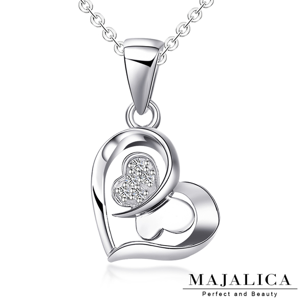 Majalica純銀項鍊 閃耀之星短項鏈 925純銀 八心八箭 PN3039