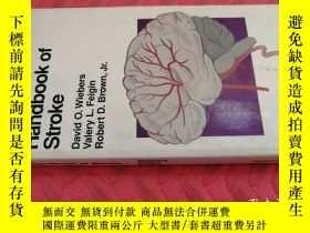 二手書博民逛書店【英文原版】Handbook罕見of Stroke( 如圖)Y25633 David O. Wiebers L