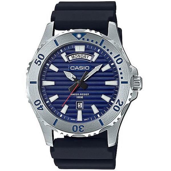 【台南 時代鐘錶 CASIO】卡西歐 台灣公司貨 MTD-1087-2A 陽光型男潛水風格運動錶