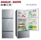 【佳麗寶】-留言加碼折扣(台灣三洋SANLUX)528公升采晶玻璃變頻電冰箱 / SR-C528CVG