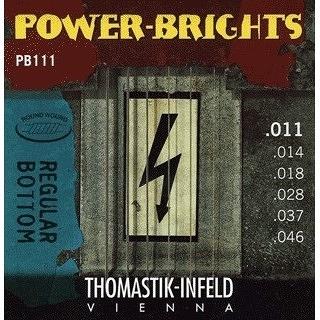 【小新的吉他館】Thomastik Infeld (Power Brights PB系列: PB111(0.11-0.46)奧地利手工電吉他弦