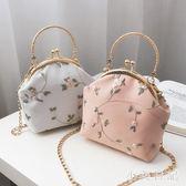 復古蕾絲口金包布藝手工刺繡花朵手提包配旗袍包包唯美漢服小包包 XN1081『小美日記』