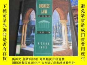 二手書博民逛書店BUSINESS罕見LAW IN CANADA翻譯:加拿大商法Y