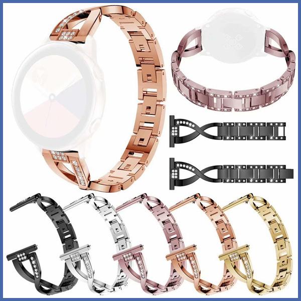 三星 active 交叉鑲鑽錶帶 三星錶帶 金屬錶帶 鑲鑽表帶