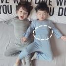 兒童睡衣莫代爾春秋薄款寬松女長袖秋季男童寶寶女童家居服套裝男 小山好物