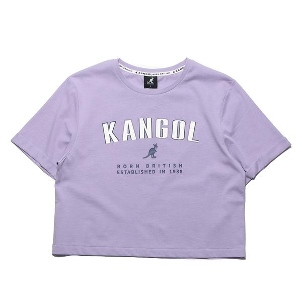 KANGOL 短T 短版T 淺紫 胸前大英文LOGO 年份 女 (布魯克林) 6122100691