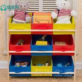 兒童玩具收納架實木布抽多層置物架整理架分類架玩具收納櫃懶角落 晴川生活館 igo