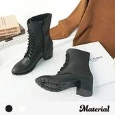 中長靴 率性綁帶中長靴 MA女鞋 T5635