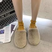 毛毛鞋 毛毛鞋女外穿百搭厚底2020年新款秋冬季居家用包頭棉拖鞋室內【全館免運】