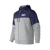 NB 1978 藍灰色 外套 經典針織連帽外套 運動外套 復古風 棉質外套 夾克 拼接 連帽外套 AMJ83523AG