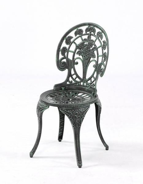 【南洋風休閒傢俱】戶外休閒桌椅系列-玫瑰鋁餐椅  戶外鋁合金休閒餐椅 適民宿 餐廳 (#030C)