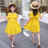 兒童洋裝—童裝女童連身裙夏裝新款韓版小女孩夏季公主裙露肩洋氣裙子潮 依夏嚴選