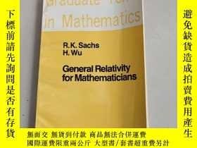 二手書博民逛書店General罕見Relativity for Mathematicians(數學家廣義相對論)扉頁有名字Y6