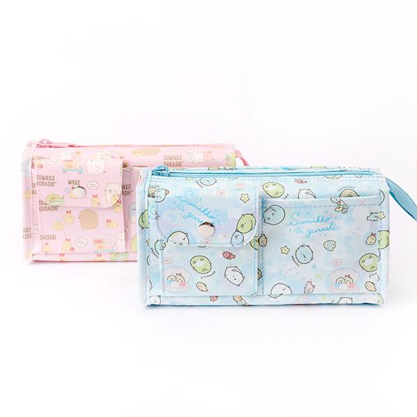 角落生物立體四方多口袋筆袋v3- Norns 鉛筆盒 文具收納袋 角落小夥伴正版