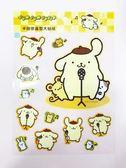 【震撼精品百貨】Pom Pom Purin 布丁狗~透明貼紙#95197