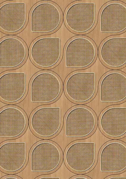 編織紋 藤編織圖案 木紋壁紙 仿真 荷蘭壁紙 5色可選 NLXL CANE WEBBING / VOS-10