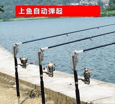 NF46【2代升級版2.4米三檔自動魚竿】彈簧自動海竿 釣魚竿漁具垂釣 輕鬆釣魚