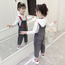 女童秋裝套裝2019新款洋氣韓版時髦兒童裝開學季網紅背帶褲兩件套