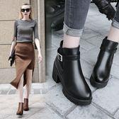 短靴 女士馬丁靴女英倫風短靴女春秋單靴粗跟女靴子短筒靴子女冬季女鞋