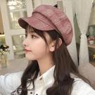 貝雷帽 春夏新款貝雷帽女純色防曬帽子純棉透氣洋氣帽子女可愛百搭顯臉小