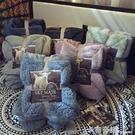 ▶馬卡龍雙層羊羔絨毛毯加厚單雙人蓋毯珊瑚...