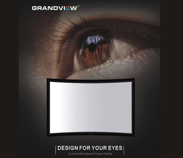 《名展影音》加拿大 Grandview 120吋 LARGE-FLAT 弧形畫框布幕