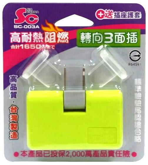 彩色轉向三面插附2入防塵蓋 SC台灣製造