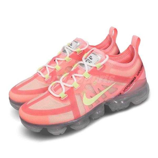 【六折特賣】 Nike 慢跑鞋 Wmns Air Vapormax 2019 粉紅 黃 女鞋 運動鞋 氣墊 【PUMP306】 AR6632-602
