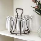 日式創意杯架 鐵藝水杯架子玻璃杯咖啡杯瀝水架家用客廳水杯掛架 樂活生活館
