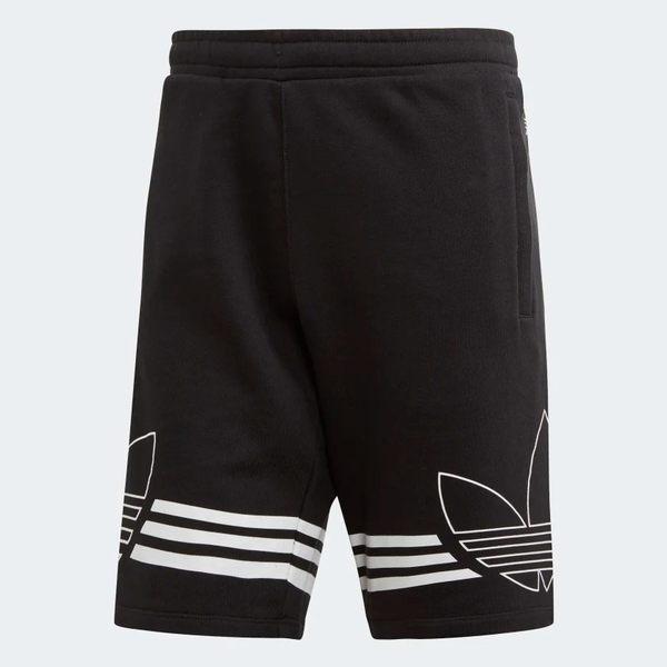 ADIDAS ORIGINALS OUTLINE SHORTS 男裝 短褲 休閒 慢跑 棉質 舒適 黑【運動世界】ED4696