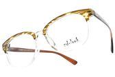 ZD-LOOK 12星座 濾藍光 光學眼鏡 HD-HC490 C10 (黃-棕) 韓國製 質感眉框款