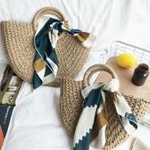 包包編織手提包女編織包女草包手提包草編包度假旅行沙灘包藤編包 金曼麗莎