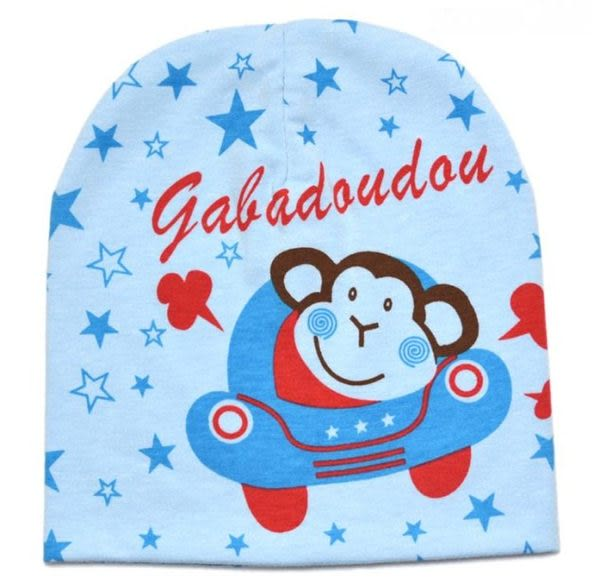 *甜蜜蜜親子童裝*百搭《汽車小猴款》可愛保暖帽 套頭帽