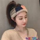 針織髮帶 韓國針織毛線髮帶撞色寬邊運動洗臉頭箍四季百搭外出髮箍頭飾 寶貝計畫 618狂歡