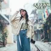 Queen Shop【02071234】立體口袋夾克拉鍊外套 兩色售*現+預*