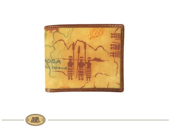 【寧寧精品小舖*台中皮件皮帶店】SOB DEALL 沙伯迪澳 地圖 短夾 長夾 包包 皮包*20573005303-1