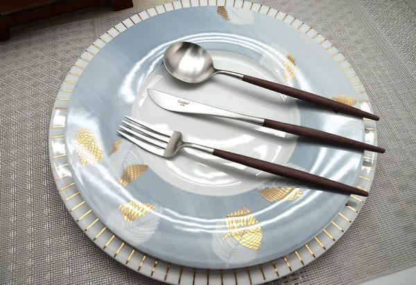 葡萄牙 Cutipol GOA系列21.5cm主餐匙(棕銀)