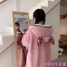 秋冬韓版睡衣女甜美草莓閨蜜家居服套裝『Sweet家居』