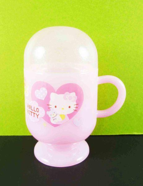 【震撼精品百貨】Hello Kitty 凱蒂貓~牙刷膏組-粉愛心圖案