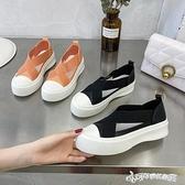漁夫鞋 漁夫鞋女2020年新款夏季網紅厚底松糕鞋懶人一腳蹬樂福鞋超火單鞋