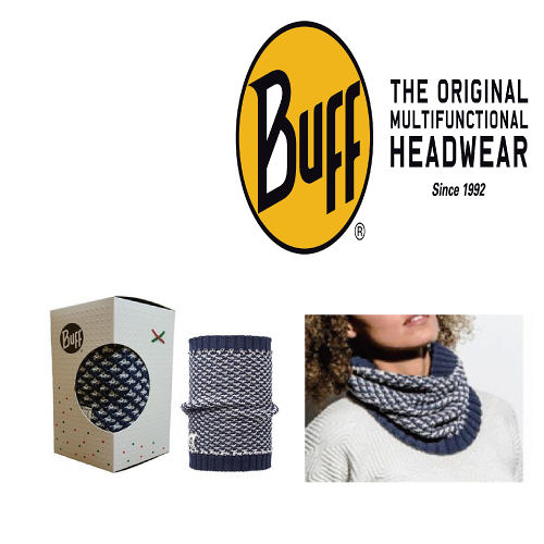 [Buff]羊毛格紋針織圍巾 聖誕限定(UB1773-730)