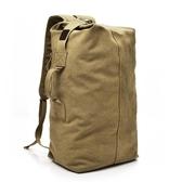 雙肩包戶外旅行水桶背包帆布登山運動男大容量行李包手提    多莉絲旗艦店